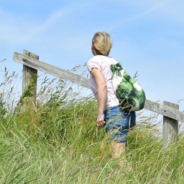 Sommerlicher Rucksack mit viel Platz