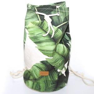 Stylischer Beutel mit Palmen Print