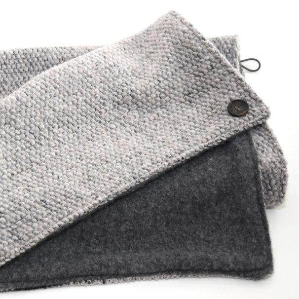 grauer Wickelschal - Wollmischung