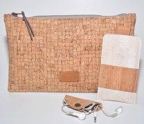 Schickes Taschen-Set aus Korkleder